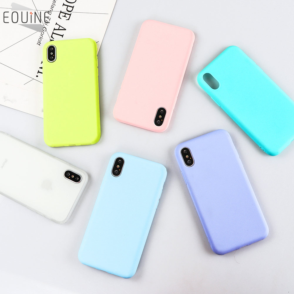quality design f0704 b373e US $1.43 15% OFF|Eouine Phone Cases for iPhone 8 Plus Silicone Case Cover  for iPhone X 5 5S SE 6 6s 7 Plus Case Macarons Color for iPhone 8 Case-in  ...