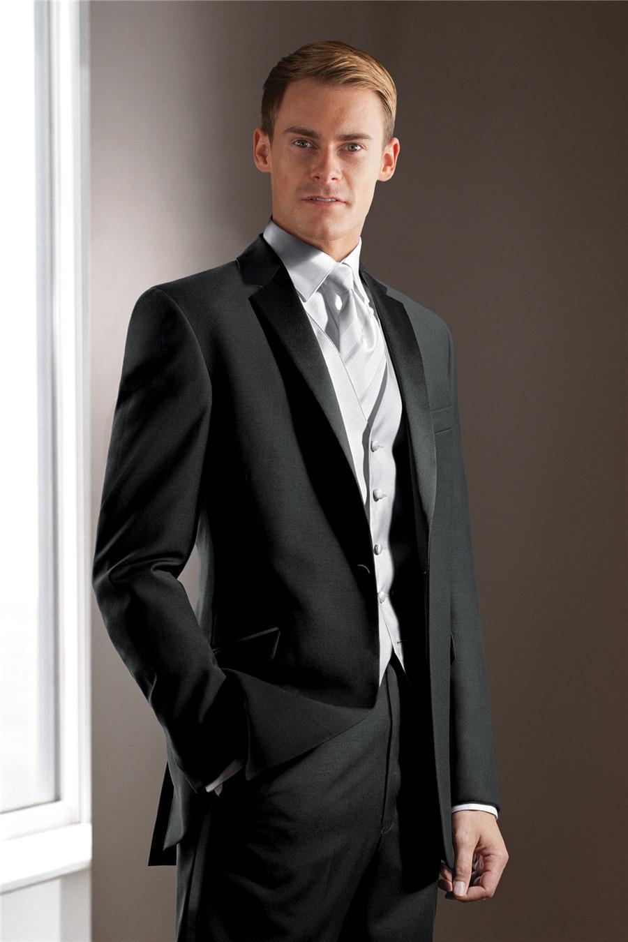 custom men wedding suit 2018 Groom Tuxedos Mens Suit groomsmen Suit ...