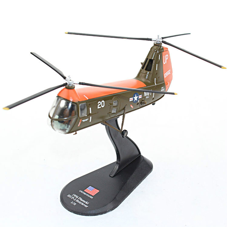 3pcs/lot AMER 1/72 Scale Military Model Toys USA 1956 Piasecki HUP-2 Retriever Helicopter Diecast Metal Plane Model Toy