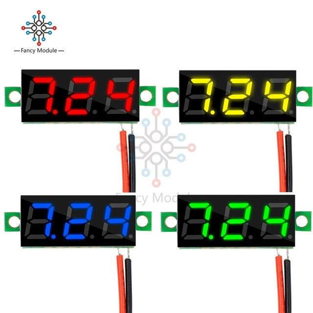 1pcs 0.28 Inch 2.5V-30V Mini Digital Voltmeter Voltage Tester Meter LED Screen Electronic Parts Accessories Digital Voltmeter
