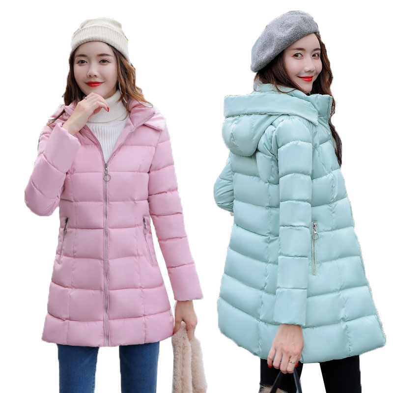 Women Cotton Jacket Winter Slim Hooded Thick Causal down cotton winter coat Thick Warm Parkas Jacket Female Overcoat