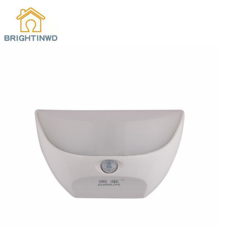 BRIGHTINWD LED Intelligent Human Body Double Induction Night Light Infrared Induction Light Control Wall Lamp Hotel Aisle Light