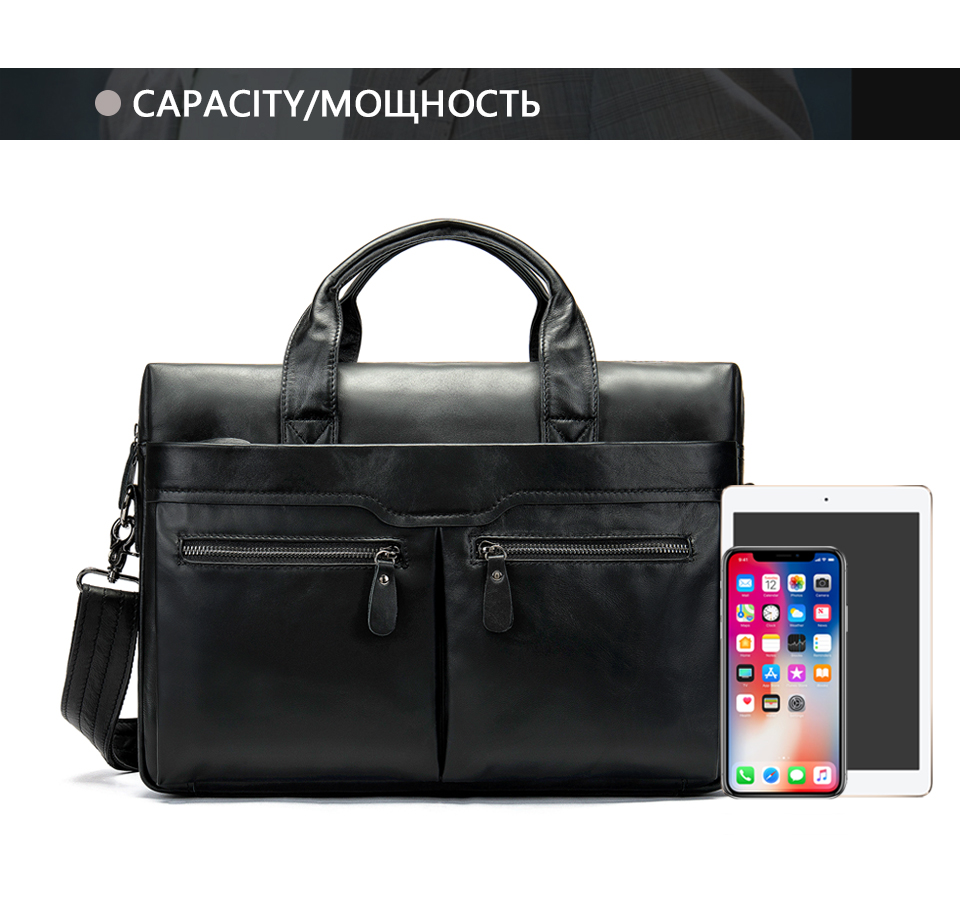HTB1iSwobinrK1Rjy1Xcq6yeDVXaa WESTAL genuine leather bag for men's briefcase bussiness laptop bags for documents messenger handbags tote briefcase 9005
