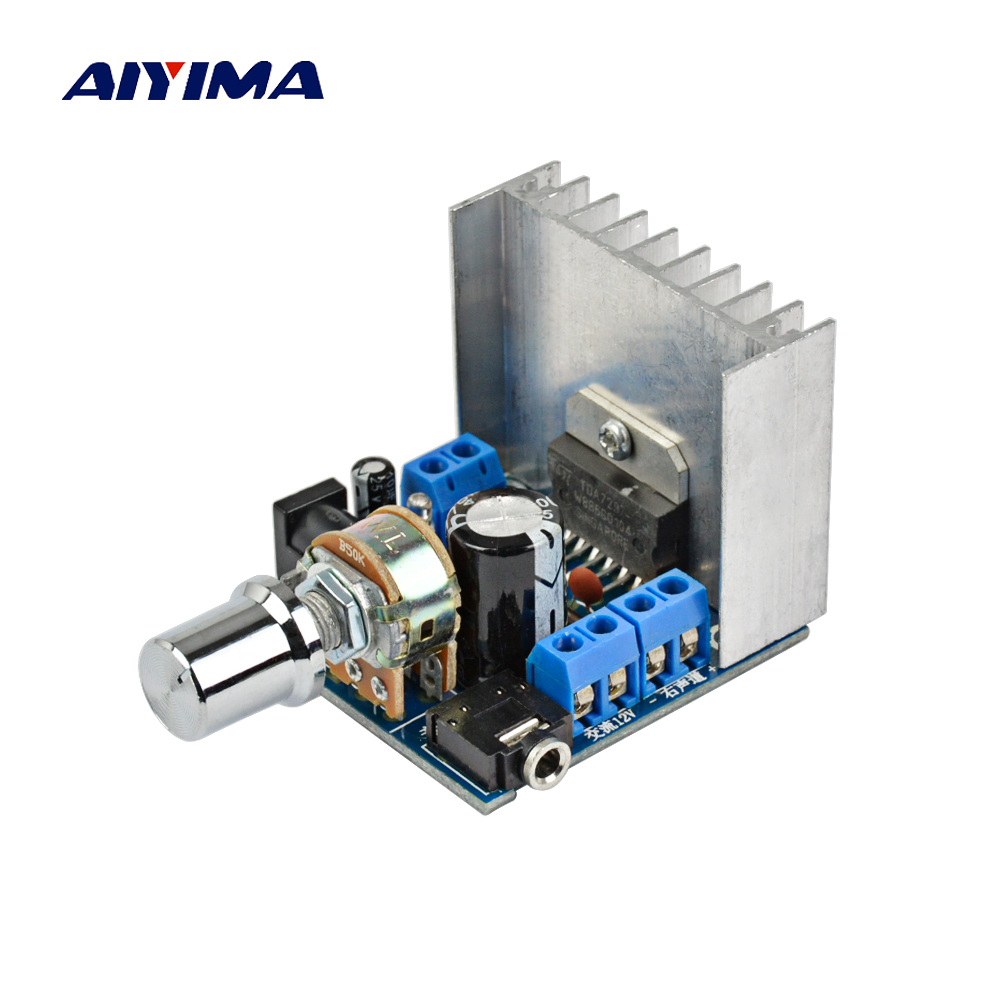 AIYIMA TDA7297 Power Amplifier Audio Board 2x15W 2.0 Dual Channel Car Amplifier Audio Amp DC12V For 4-8ohm Audio Speaker