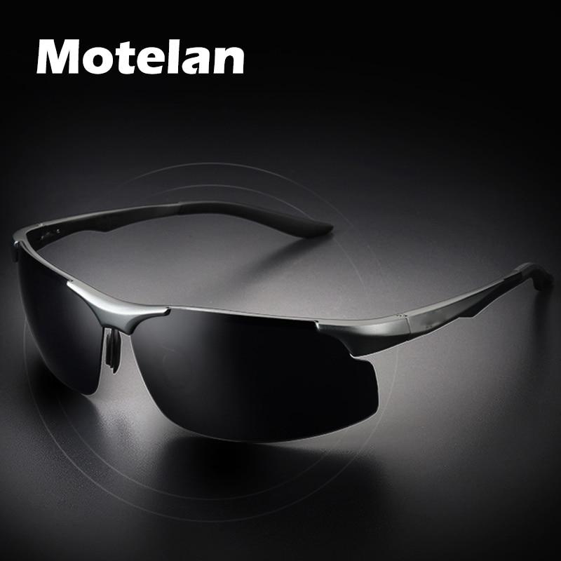 Comprar Homens polarizados óculos de Sol Da Moda Armação de Metal Alumínio  Novo Sem Aro Moda Masculina Condução Pesca Golfe UV400 Óculos de Sol Com  Caixa ... 6e8270140f