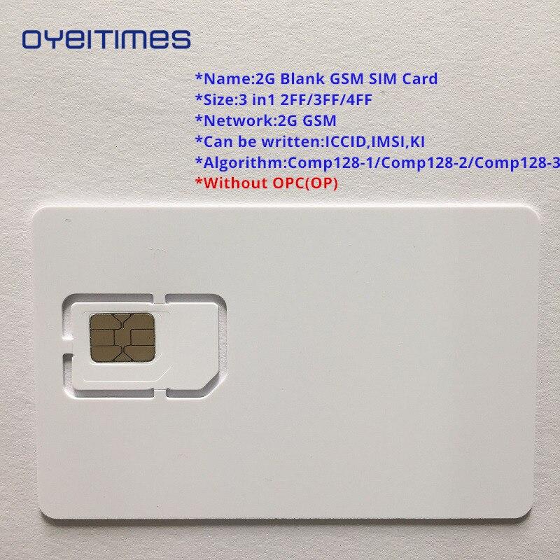US $3 75 6% OFF|OYEITIMES 2G GSM SIM Card Blank SIM Card 2G Programmable  GSM SIM Card ICCID IMSI PIN PUK ADM KI COMP128 Algorith Without OP/OPC-in