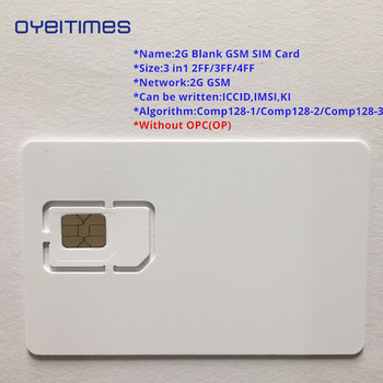 OYEITIMES 2G GSM SIM Card Blank SIM Card 2G Programmable GSM SIM Card ICCID IMSI PIN PUK ADM KI COMP128 Algorith Without OP/OPC image