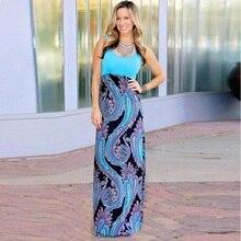 Elegant Beach Long Dress Women Sundress Casual Striped Sleeveless Summer Dresses Bohemian Fashion O Neck Party Dress Vestidos цена