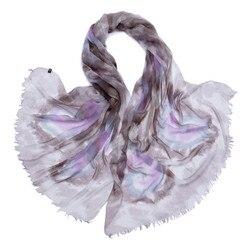 100% ziege kaschmir frauen frühling herbst mode gedruckt dünne schals schal pashmina grau lavendel 90x200 cm