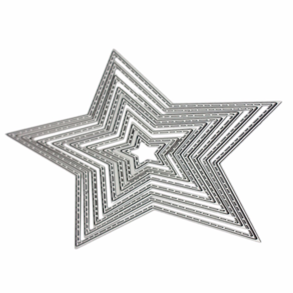 Carbon Steel Star Cutting Die DIY Scrapbooking Embossing Templates ...