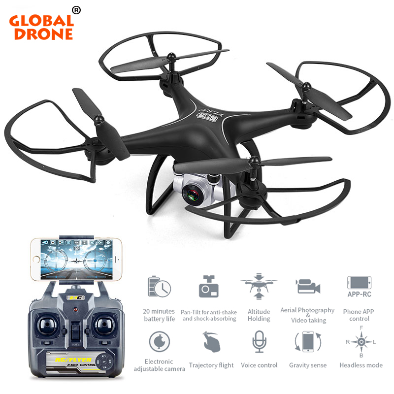 Global Drone Profissional Long Flight Time Dron Wifi FPV Helicopter Headless Mode RC Drone With Camera HD 1080P VS SYMA X5C syma x5uw fpv rc quadcopter rc drone with wifi camera 2 4g 6 axis mobile control path flight vs syma x5uc no wifi rc helicopter