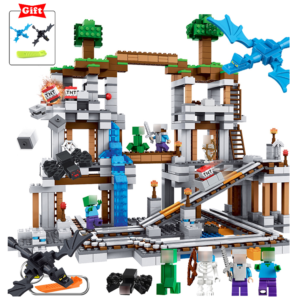 Qunlong My World Minecrafted Building Block Brick Action Figures Christmas Toy Gift For Children Compatible Legos Minecraft City