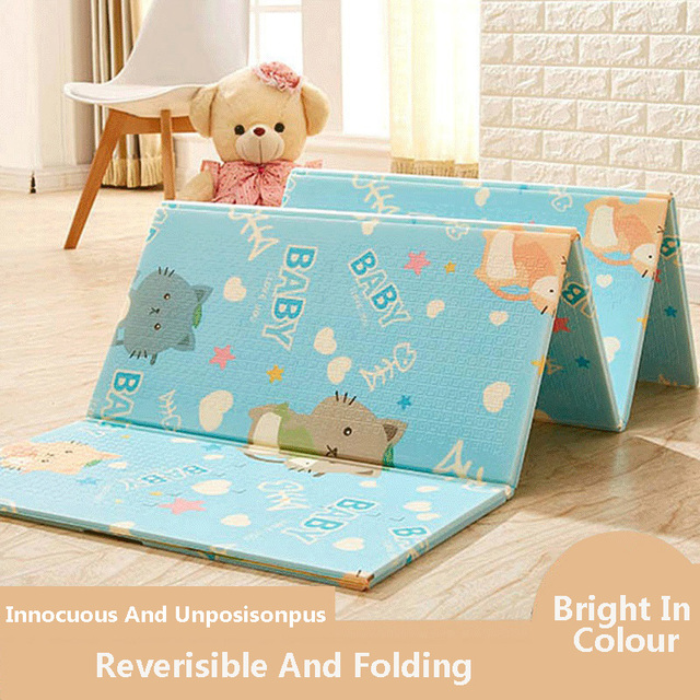 Infant Shining Baby Play Mat Xpe Thickening Green Living Room Rugs Special Sching Folding Nontoxic