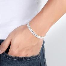 TJP Top Quality Silver 925 Men Bracelets Jewelry Charm Link Chain Bracelet For Boy Accessories Fashion Valentines Day