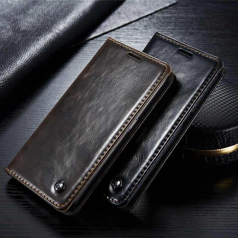 CaseMe Brand  S7 Wallet Leather Case for Samsung Galaxy S6 Edge S7 Edge Magnetic Flip Leather Cover for Samsung Galaxy S6