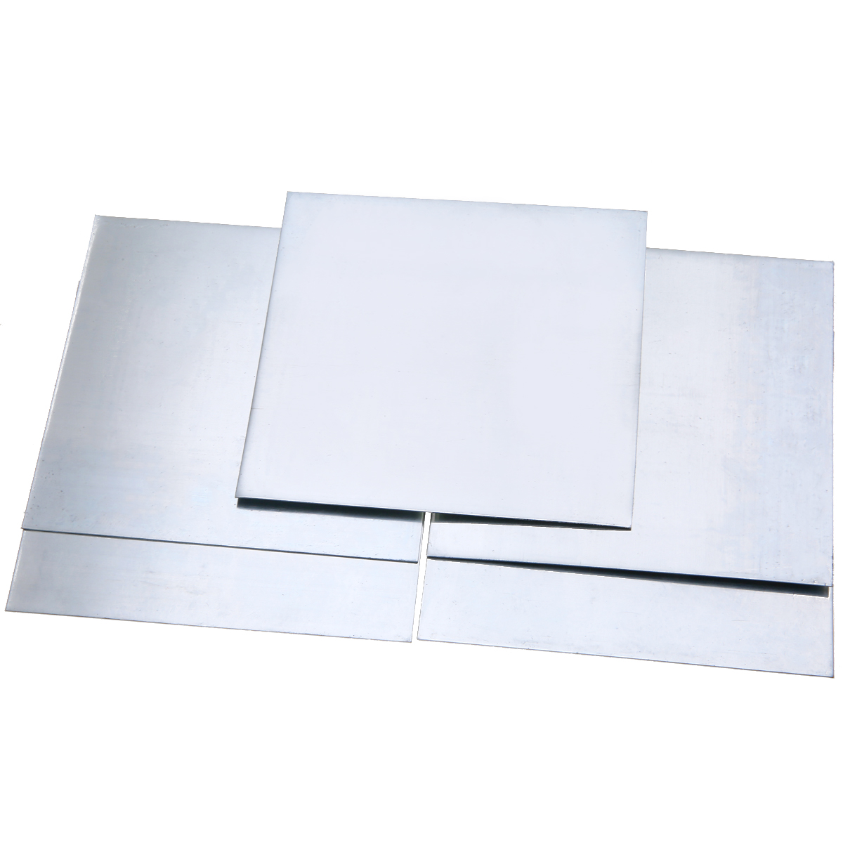 5pcs High-purity Pure Zinc Zn Sheet Plate 0.5mm Thickness Metal Foil 100mmx100mm For Power Tools