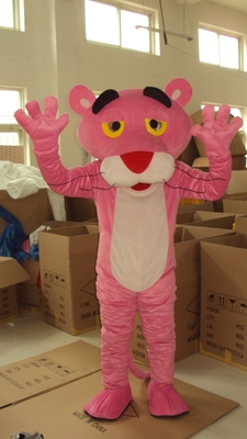 Pink Panther Mascot Costume Leopard Fancy Carnival  Mascot Festive Day Adult Doll Clothes Hot Cartoon Character Free Shipping