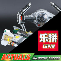 LEPIN 05030 722Pcs Star Wars Vader Tie Advanced VS A Wing Starfighter Building Blocks Compatible With
