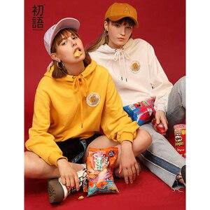 Image 1 - Toyouth 2019 Women Sweatshirts 새 도착 봄 긴 소매 느슨한 솔리드 컬러 후드 여성 캐주얼 스웨터