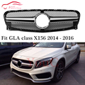 X156 AMG Решетка переднего бампера гриль сетка для Mercedes GLA class X156 пред-facelift 2014 2015 2016 GLA200 GLA250 GLA45 AMG SUV