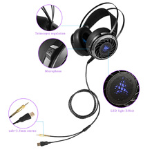 Professional 3.5mm Stereo Gaming Headset M160 Deep Bass Gaming Headphones With Noise Isolation LED Light For Laptops PS4 Phone