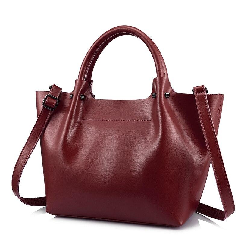 REALER women handbag split leather large tote bag female top handle bags ladies shoulder crossbody messenger