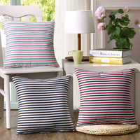 Colorful Striped Pillow Covers Cushion Case Home Decor Linen Cotton Geometric Decorative Throw Pillows Chair Cover Pillowcase