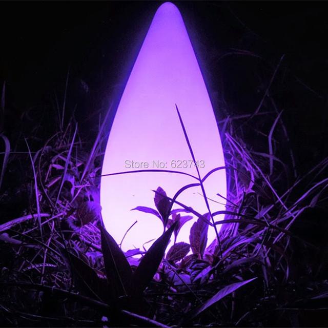 Ao ar livre à prova d' água 16 Cores Colorido Gota de Água teardrop noite lâmpada de controle remoto sem fio recarregável do diodo emissor de luz de humor