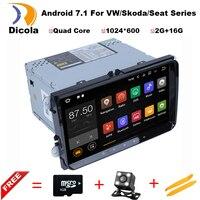 2 Gam + 16 Gam HD 2 din android 7.1 car dvd đối với vw passat b5 b6 golf 4 5 tiguan polo skoda octavia nhanh đài phát thanh xe đa phương tiện máy nghe nhạc