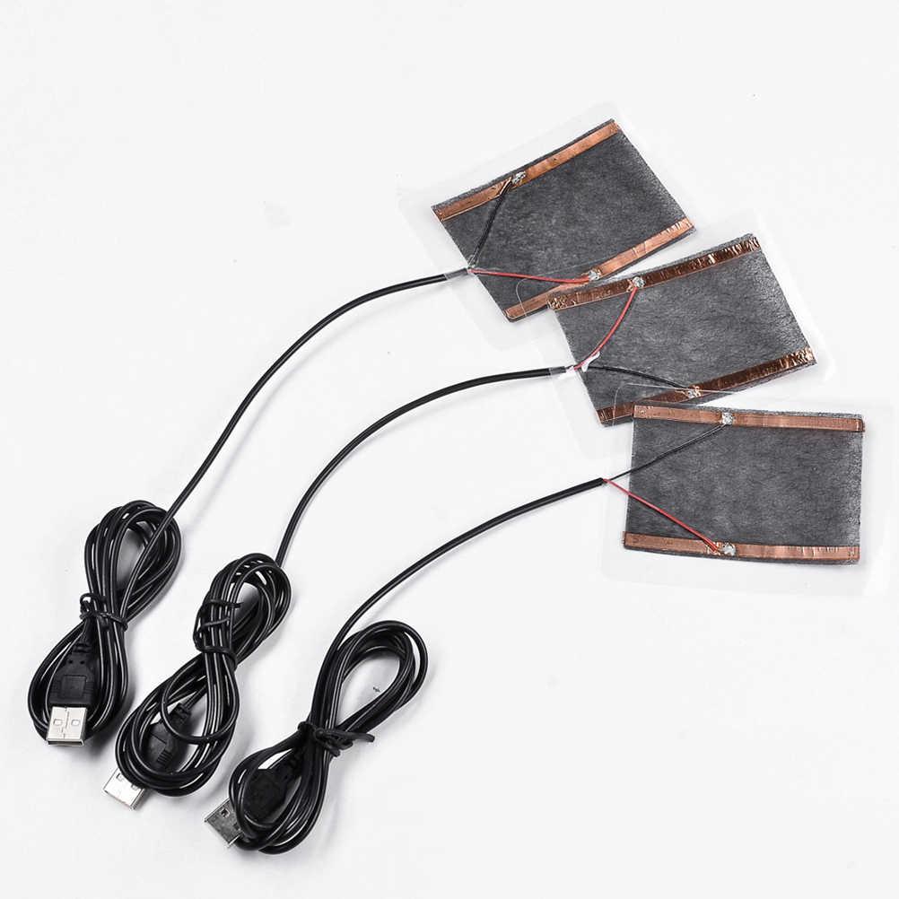 1 unidad USB calentador almohadilla de masaje para calentar el pie del cuerpo de invierno placa caliente portátil para alfombrilla de ratón zapatos Golves masaje