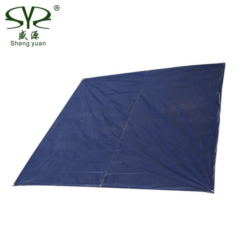 3*3M Portable Tarp Waterproof Outdoor Camping Mat Anti-UV Oxford Cloth Silver Tent Camping Mattress Picnic Beach Mat Blanket