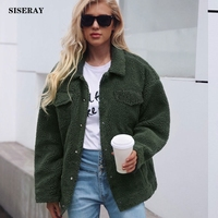 2018 Winter Plus Size Women Shaggy Coat Lamb Wool Women Faux Fur Coat Warm Jacket Coat Outwear Pocket Fleece Fur Coat For Women