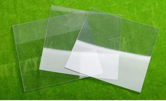2 uds hoja transparente de PVC tamaño de la placa transparente de plástico 200*200mm de espesor 0,5mm 0,8mm 1mm 1,5mm 2mm