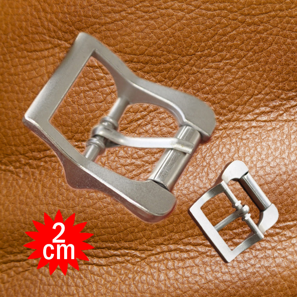 24pcs Pack CENTER ROLLAR BUCKLE metal silver alloy 2cm all purpose strap pin buckle saddlery hardware