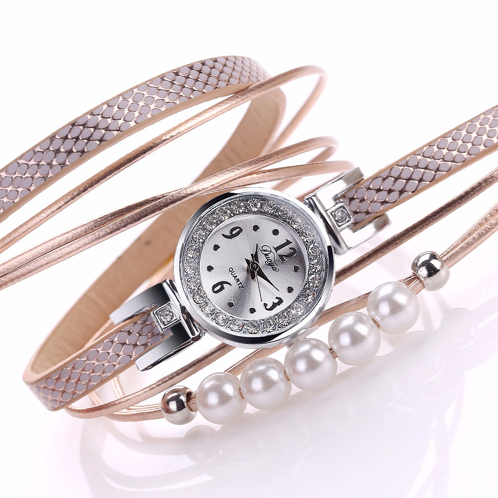 Women Watches Luxury Brand  Bangle Quartz Leather Winding Bracelet Montre-Bracelet Mujer relogio feminino Wrist2018