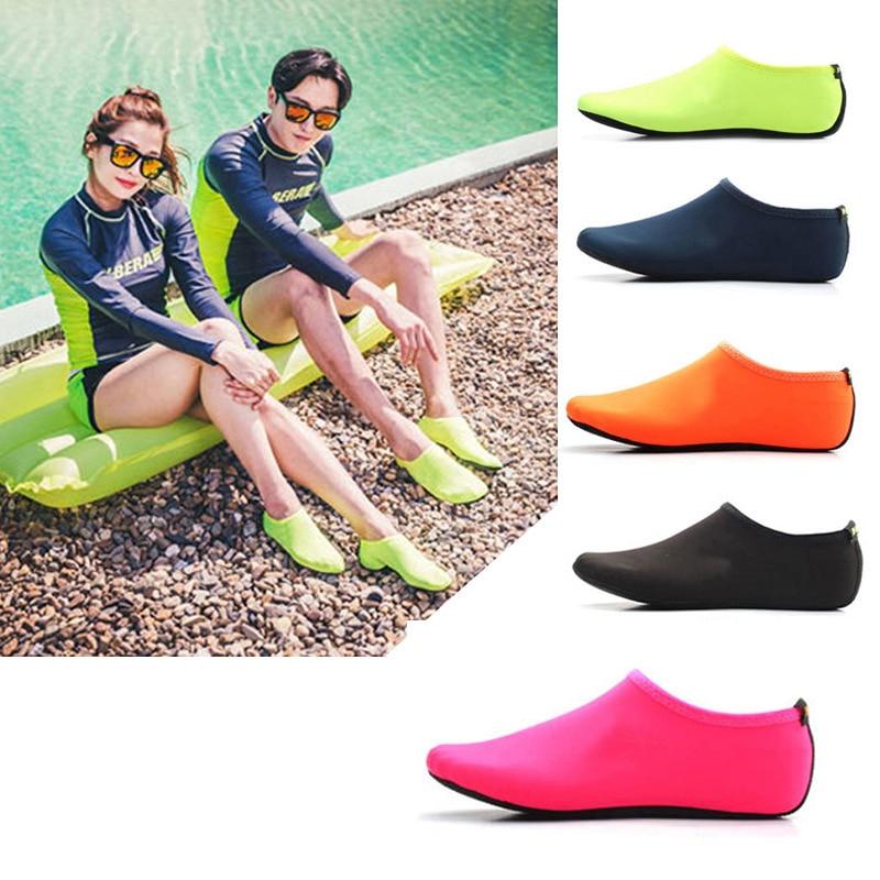 Durable Sole Barefoot Water Skin Shoes Water Sports Diving Aqua Socks Beach Pool Sand Swimming Yoga Water Aerobics Sock Shoes