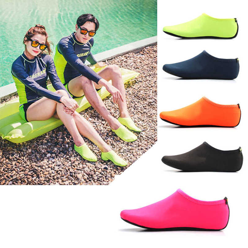 d0ce85e9a06661 Durable Sole Barefoot Water Skin Shoes Water Sports Diving Aqua Socks Beach  Pool Sand Swimming Yoga