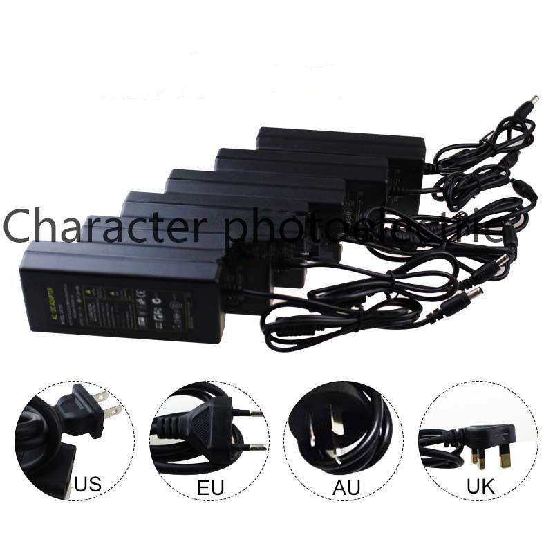 12V 1A 2A 3A 5A 6A 8A 10A Power supply for led strip EU/US/UK/AU adapter for AC110-220V to DC12V options plug transformer