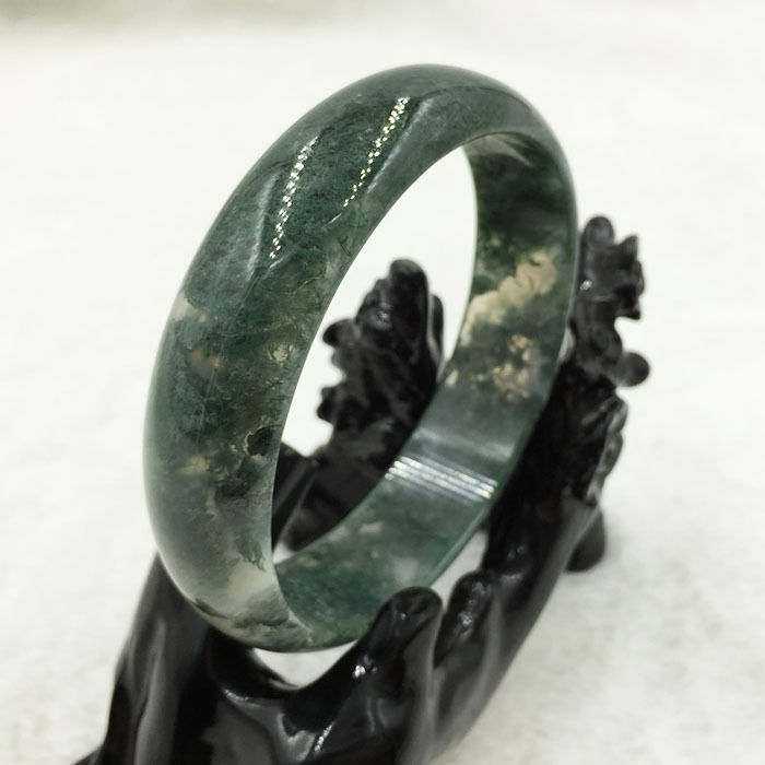 free shipping A-6371 100% Natural Grade A  Chalcedony Green  Gem Bracelet Bangle 63mm afree shipping A-6371 100% Natural Grade A  Chalcedony Green  Gem Bracelet Bangle 63mm a