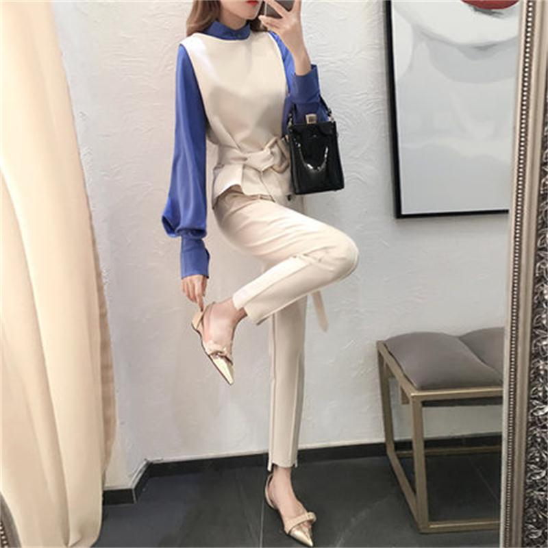 Fashion three piece suit female autumn New pants suit fashion suit temperament loose three piece suits