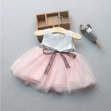 new born kid baby girl dress vestido infantil bebe white lace baby dress wedding party gowns bow sleeveless girls baptism 1 year