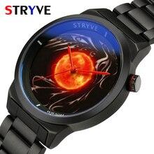 New Unique Designer Mens Wristwatches Stryve Brand Fashion Quartz Waterproof Luxury Black Steel Watch For Men relogio masculino