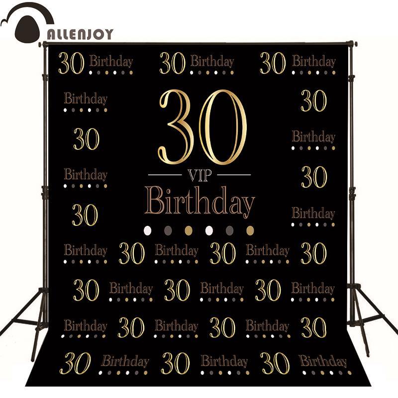 Allenjoy 사진 배경 우아한 귀족 황금 사용자 지정 배경 사진 생일 생일 photocall 사진 전화 비닐