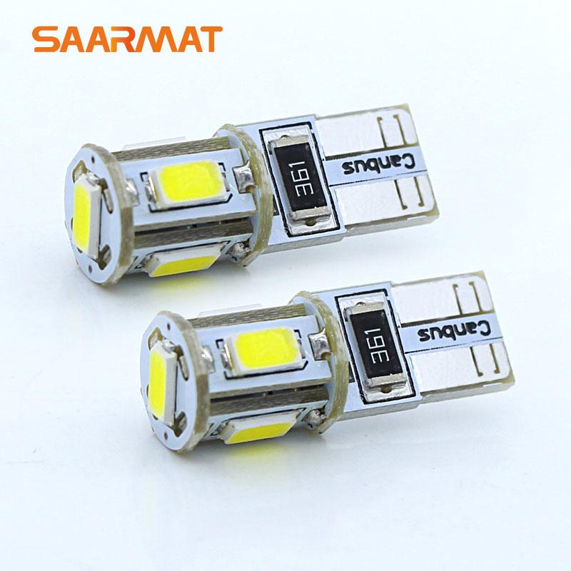2 T10 W5W w/Samsung чип LED Автостоянка Сторона лампа габаритный фонарь для Ford Focus 2 3 fiesta Mondeo Ecosport Kuga т. д.