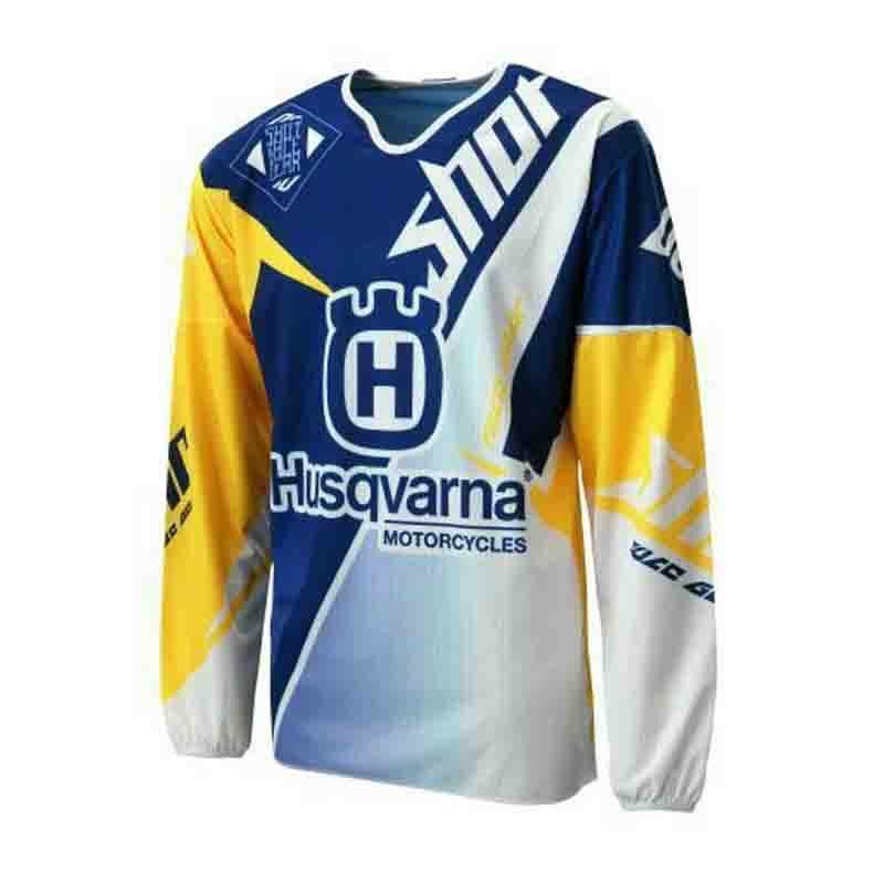 Enduro Jersey Downhill Shirt Bike Long-Sleeve Husqvarna Motocross Maillot MX Vtt Ropa-Offroad