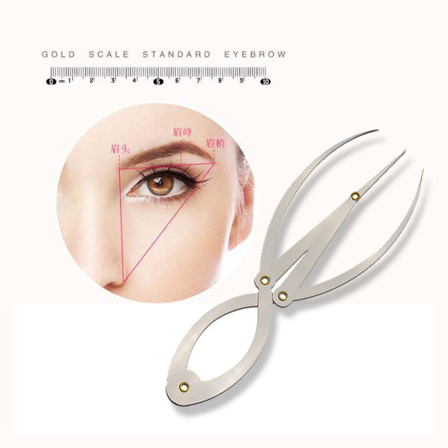 Stainless steel Golden Ratio Eyebrow Microblading Permanent Makeup Measure Tool Ruler Eyebrow DIVIDER Eyebrow Shaping Design