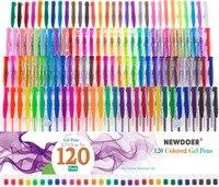 100/120pcs Gel Pen Set Refills Metallic Pastel Neon Glitter Sketch Drawing Color Pen School Stationery Marker for Kids Gifts