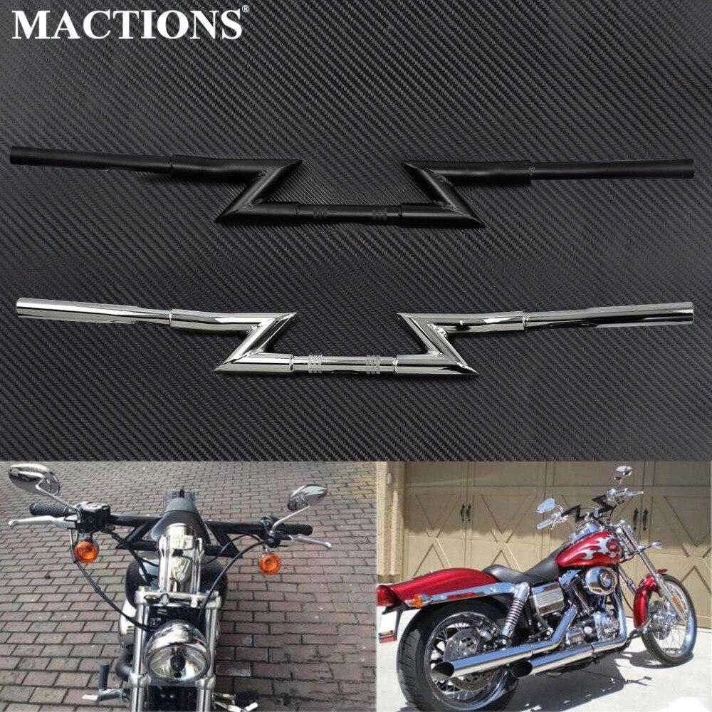 Motorcycle Universal 1 25mm Drag Z Bars Handlebars Hand Grips Handle Bar For Harley Touring Dyna