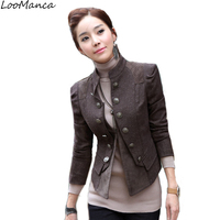 New 2017 Vintage Women Blazer And Jacket Spring Autumn Ladies Suit Blaser Outerwear Slim Coat Femme