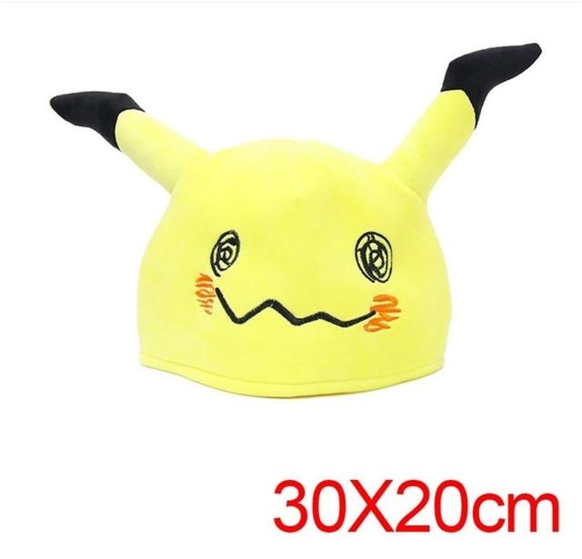 Japanese Anime Adult kids Pokemon Mimikyu Plush Hat Cosplay Cartoon Warm Cap 4